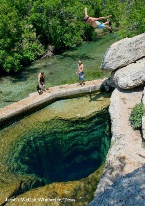 Jacob's Well. Wimberley, #Texas #USA