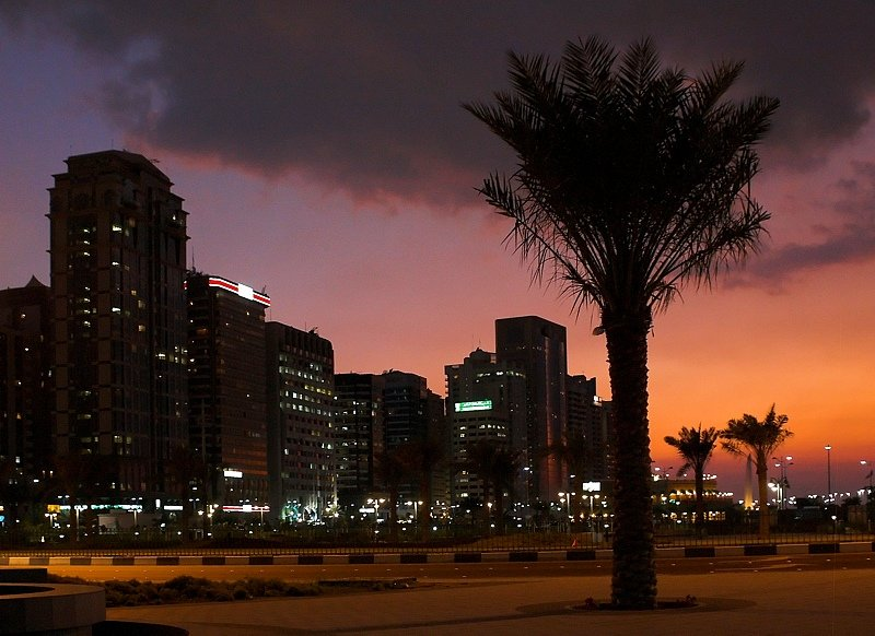 أبوظبي وقت الغروب - صور من #أبوظبي