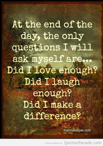 Did you make. difference ??