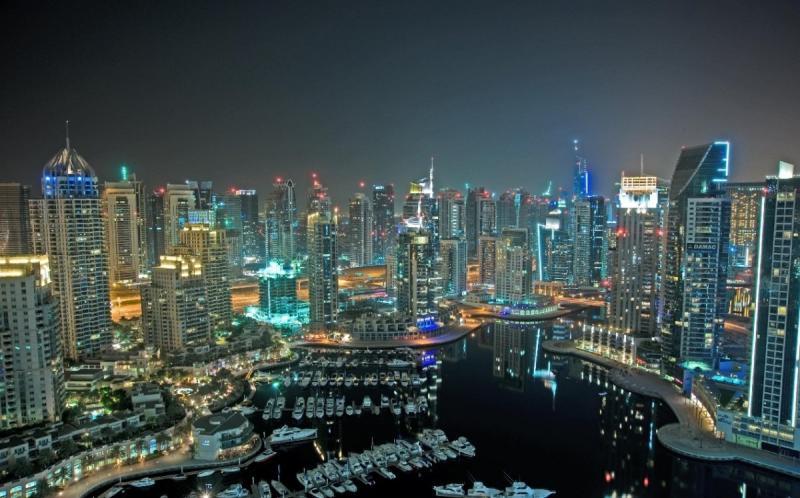 صورة مميزة للمارينا في #دبي