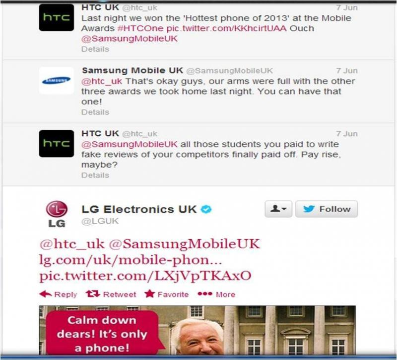 Samsung HTC Twitter War
