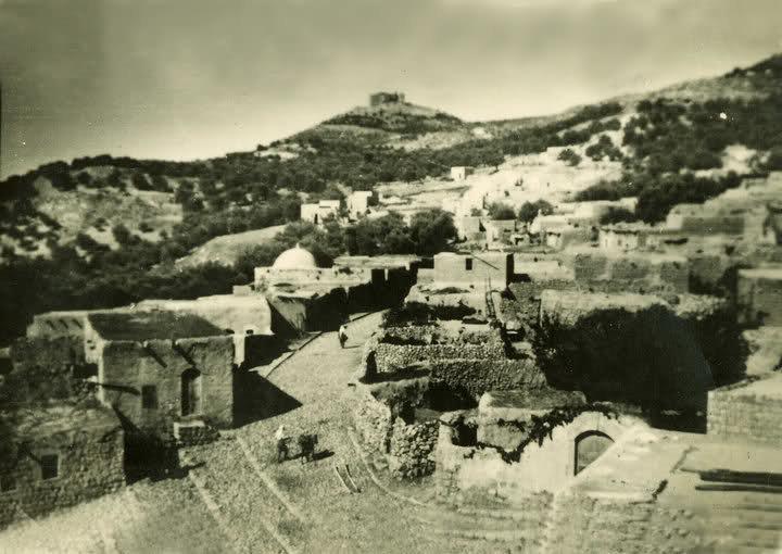 صورة تعود لعام 1950 لمدينة #عجلون #الأردن من جهة مدخل خربة الوهادنة