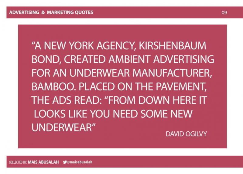 Advertising & Marketing Quotes 5 by @Maisabusalah for the full booklet check http://ow.ly/no5lZ