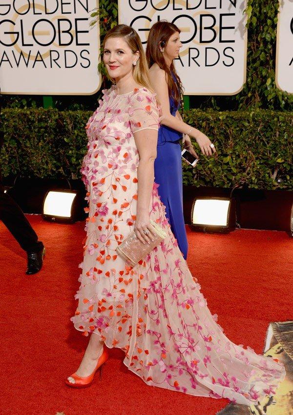 درو باريمور في فستان من تصميم مونيك لويلير