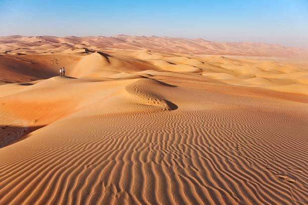 الكثبان الرملية في ليوا #أبوظبي