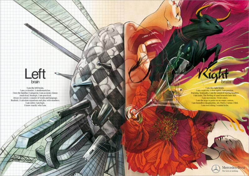 Left Brain vs. Right Brain Advertising #infographic