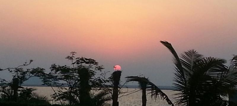 awesome sunset @ ras al khaimah