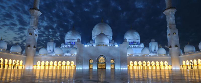 مسجد #الشيخ_زايد الكبير مساء - صور من #أبوظبي