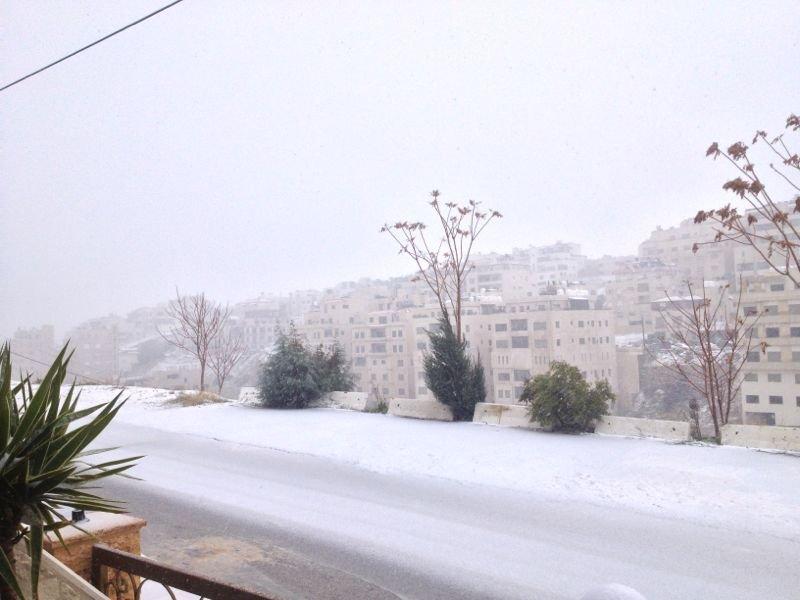 تلاع العلي في #عمان #الأردن خلال الثلج