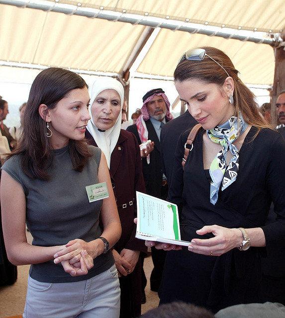 جلالة الملكة #رانيا_العبدالله في افتتاح جزء من محمية #عجلون #الأردن