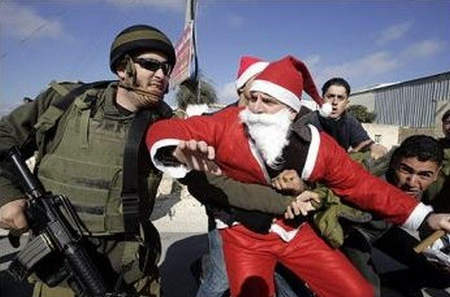 Santa is not safe from Israelis