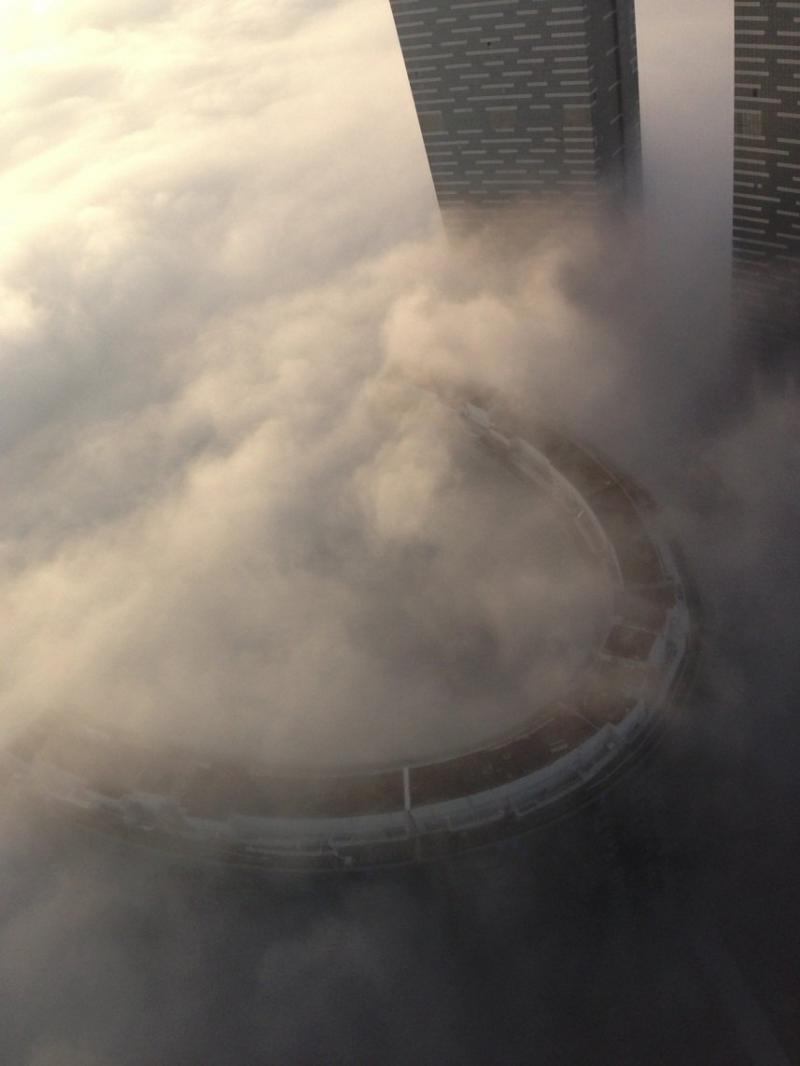 أبراج جزيرة الريم في #أبوظبي فوق الغيوم