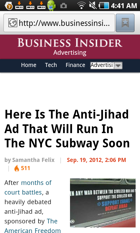 Anti Islam ad