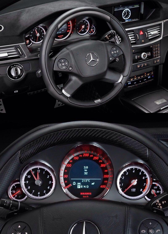 Mercedes-Benz Brabus E V12 Black Baron - interior shot