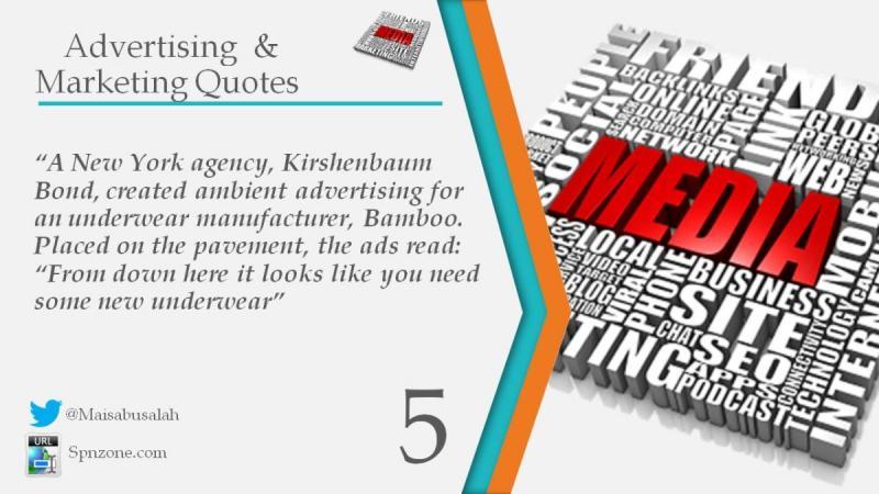 """A New York agency, Kirshenbaum Bond, created ambient advertising for an underwear manufacturer, Bam"