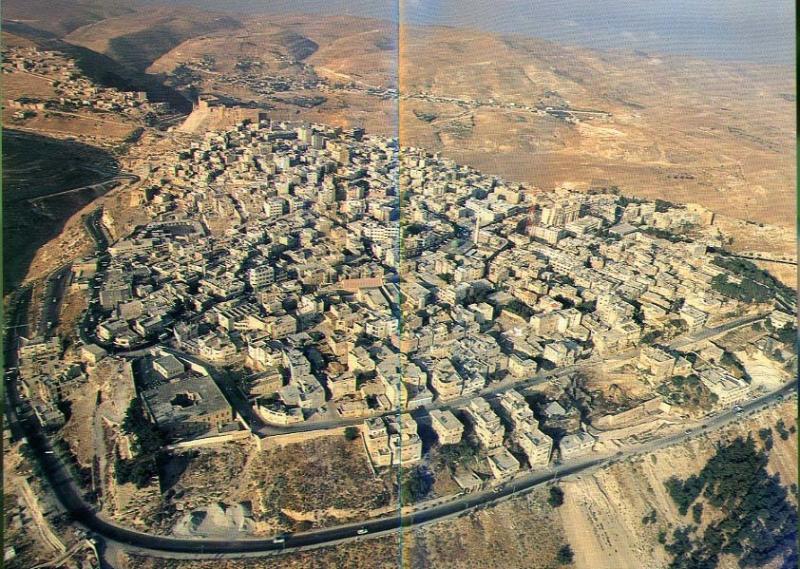 صورة جوية لمدينة #الكرك #الأردن