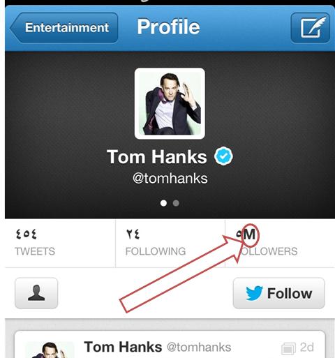 صفحة @tomhanks على #تويتر