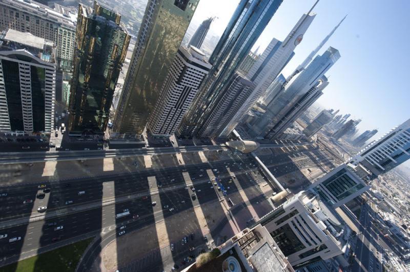 Amazing view from sheikh zayed road in #dubai #UAE