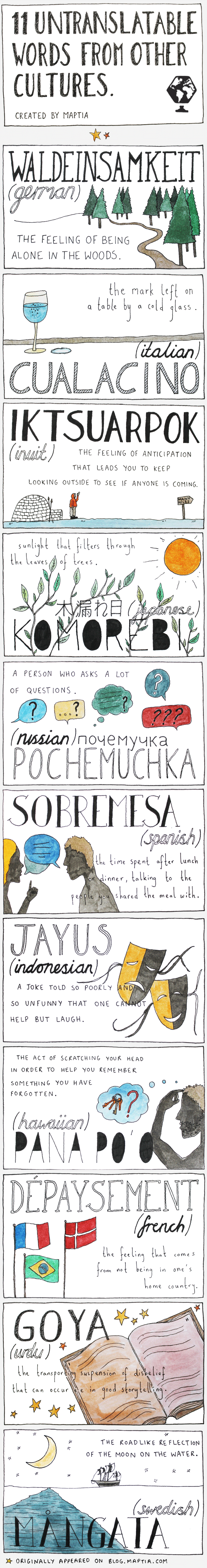 11 untranslatable words from other cultures #infographic