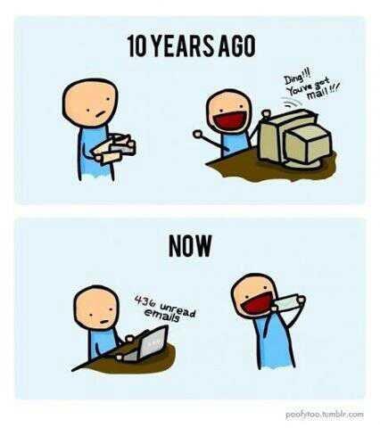 قصتي مع ال e-mails