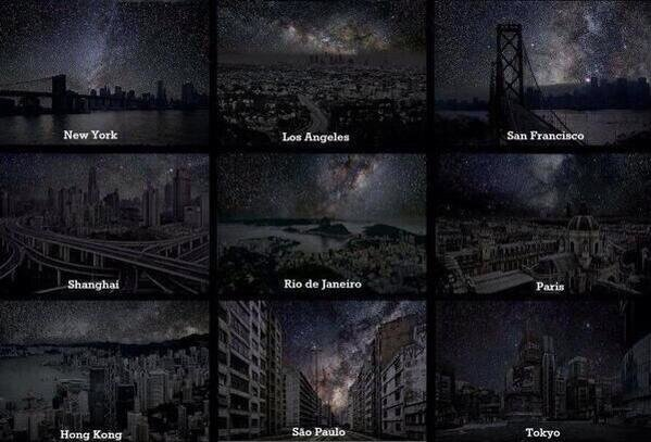 These images show us what we would see at night without light