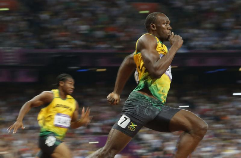 Jamaica's Usain Bolt runs to win the men's 200m final at the London 2012 Olympic Games