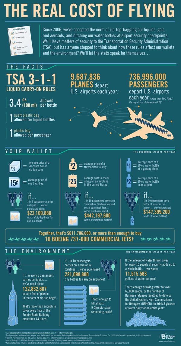 the real cost of flying #infographic