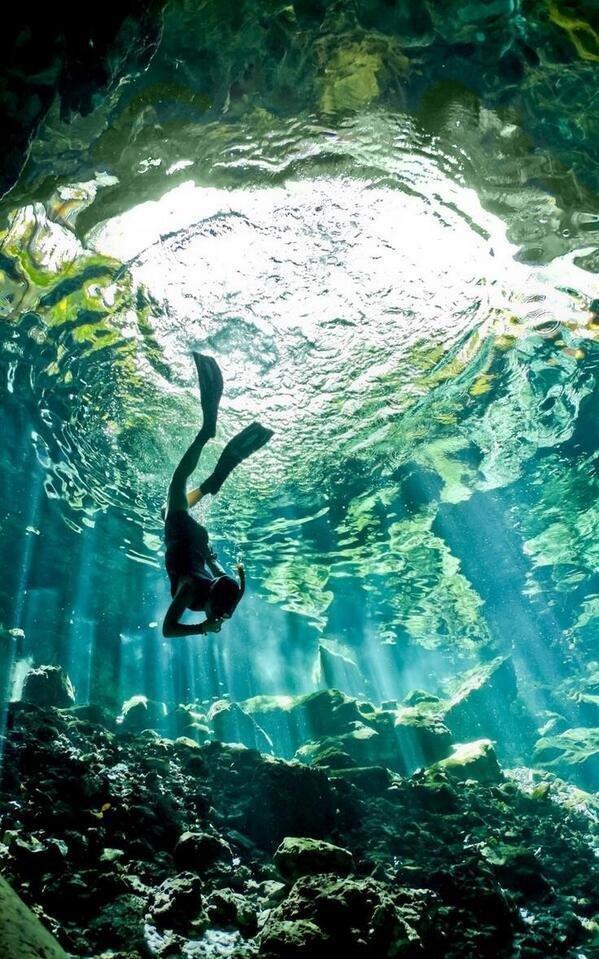 Cenote diving, Yucatan, #Mexico