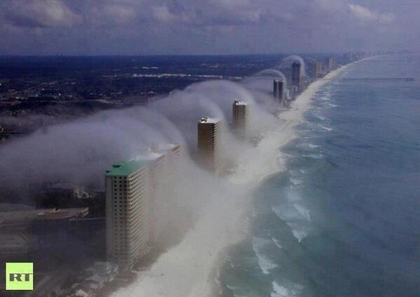 tsunami rolls over Florida high-rise condos