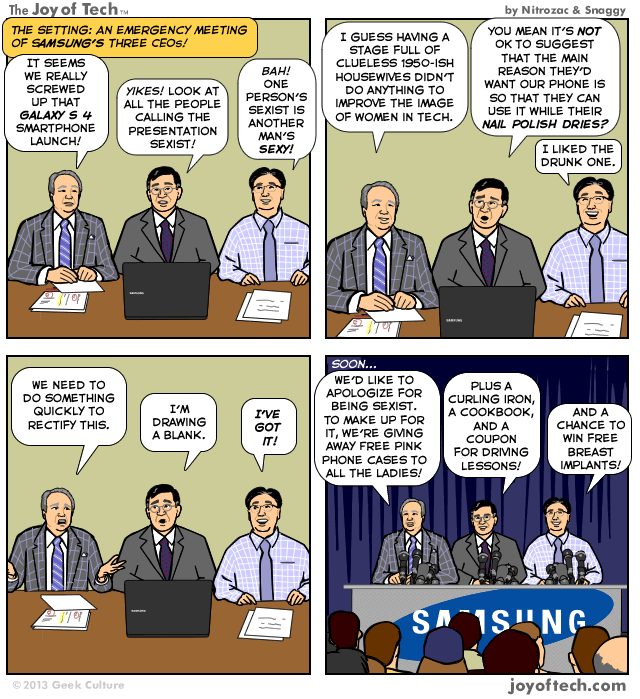 Samsung apologizes for sexist Galaxy S IV launch #Comic