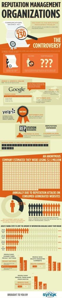 Reputation management organizations #infographic