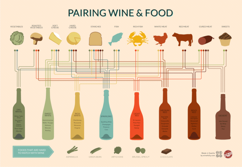 pairing wine & food #infographic