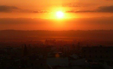 شروق الشمس فوق #مادبا #الأردن
