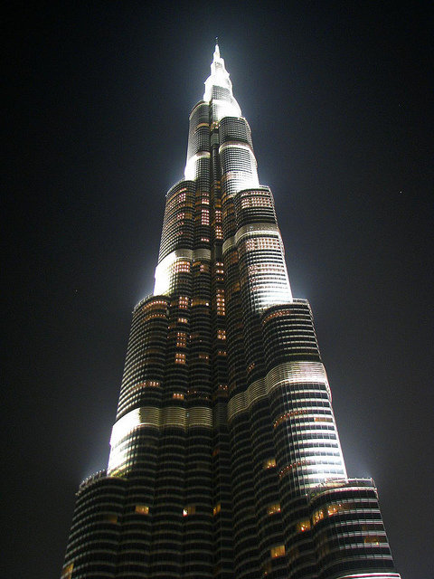 #برج_خليفة في #دبي ليلاً