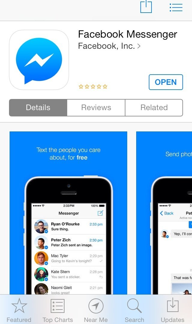 Facebook messenger now with voice calls