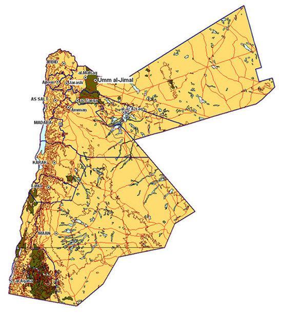 خارطة #الأردن