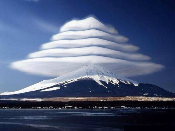 Clouds Over Mount Fuji #Japan