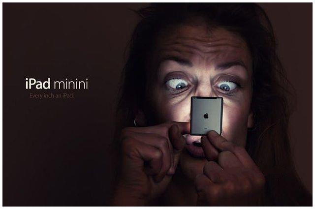 The scary photo of iPad minini #Apple