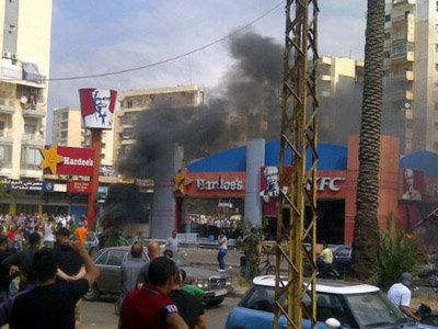 تفجير مطعم الKFC في طرابلس عام 2012