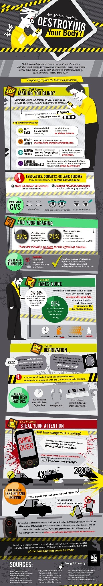 are mobile devices destroying your body #infographic