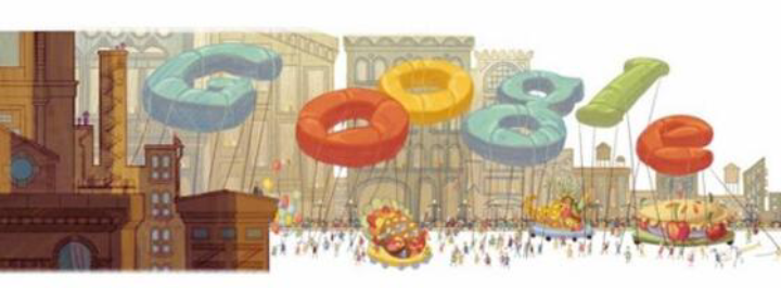 Google's doodle of the day: Happy Thanksgiving :)