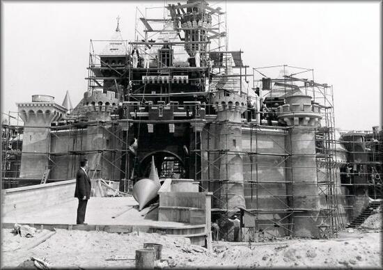 The construction of Disneyland
