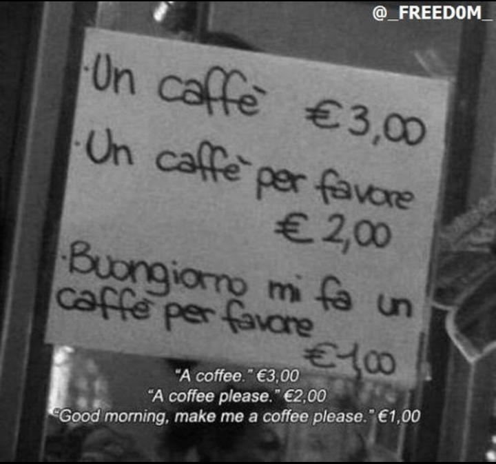 مقهى ايطالي يعلم مرتاديه الأدب #إحسان