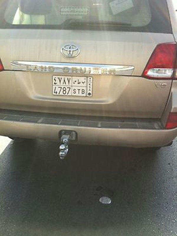 رقم لوحة السيارة التي أطلق منها النار على سعوديين بلا سبب في #الرياض #السعودية