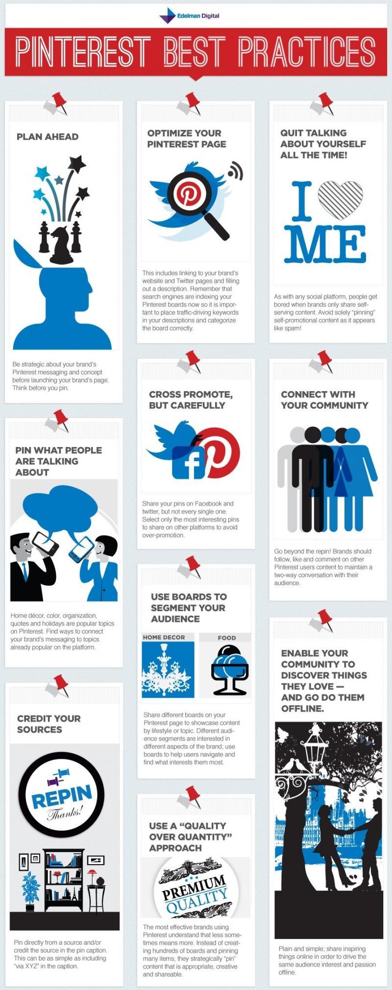 Pinterest best practices #infographic