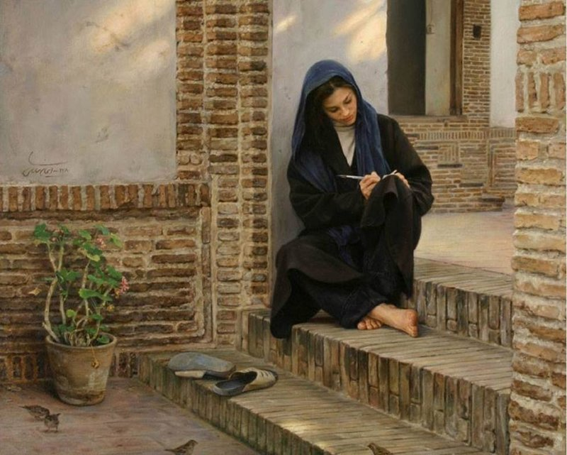 Iranian painter iman maleki #Reality_Painter - 3
