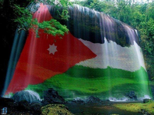علم #الأردن في الماء #خلفيات