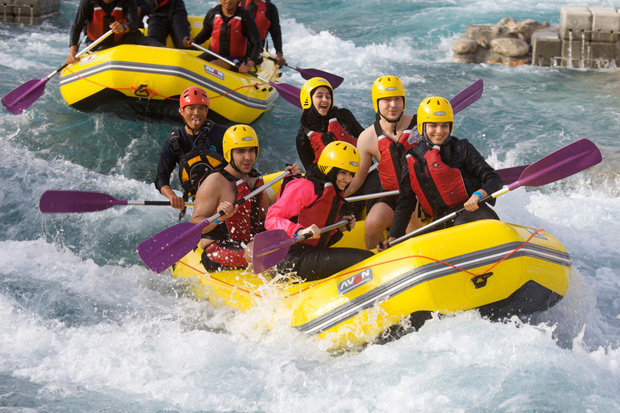 Wadi Adventure #AbuDhabi is the regions first man-made water rafting