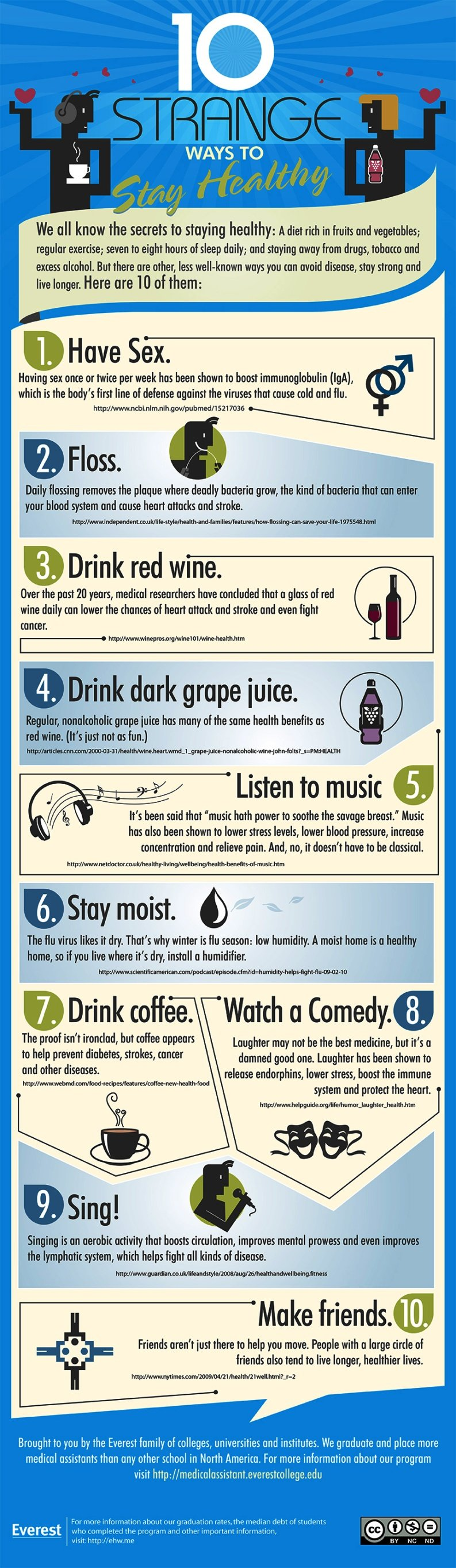 10 strange ways to stay healthy #infographic