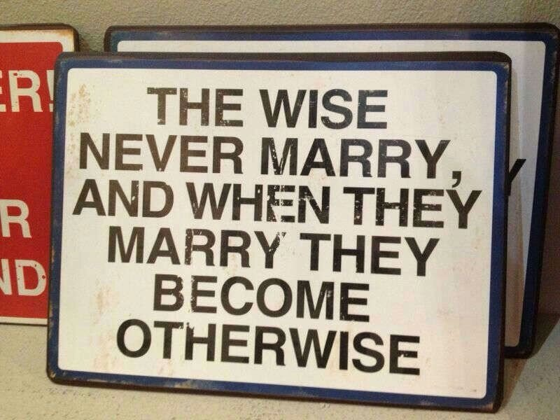 Wise men before and after marriage